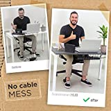 Under Desk Cable Management Tray - Easy to Install