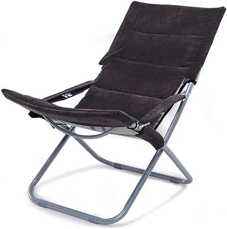 Zcyg Tumbona Tumbona reclinable con Respaldo Hamaca portátil Plegable de Ocio al Aire Libre Jardín Playa Pesca sillas de Camping Sun (Color : Coffee): Amazon.es: Hogar