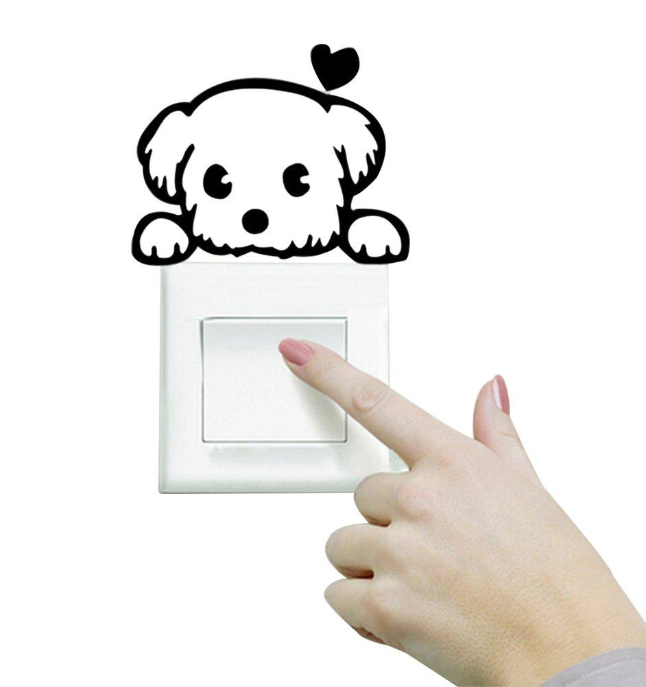 Hosaire Stickers Muraux Interrupteurs Autocollant PVC Sticker Commutateur R/ésistant /à Leau Amovible Motif de Chats et Chiens D/écoration Murale pour Maison Bricolage Wall Sticker Autocollant
