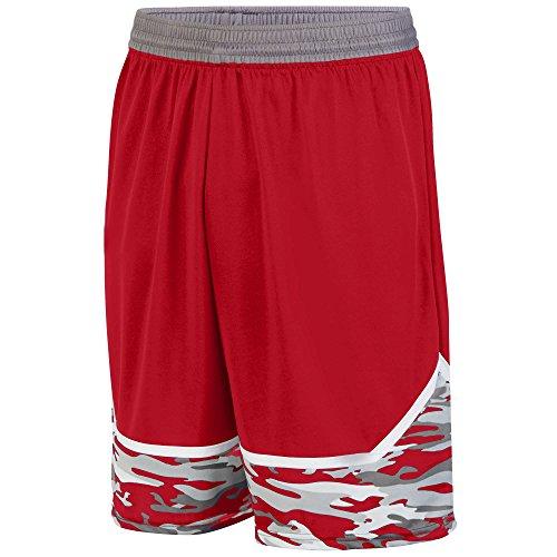 (Augusta Sportswear Boys' Mod Camo Game Short M Red/Graphite/White )