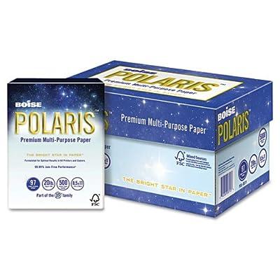 Boise - POLARIS 3-Hole Punched Copy Paper, 8 1/2 x 11, 20lb, White, 5000 Sheets/Carton POL-8511-P (DMi CT