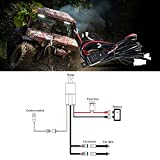 Auxbeam Wiring Harness for LED Light Bar 12V 40Amp Fuse Relay ON/OFF Switch ( 2 Lead 2 Meter Universal )