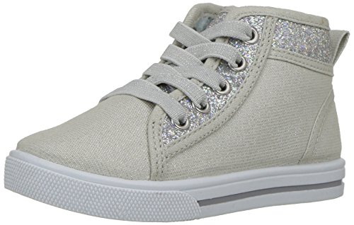 OshKosh B'Gosh Babette Girl's Glitter High-Top Sneaker, Multi Color, 8 M US - Shoe Babette