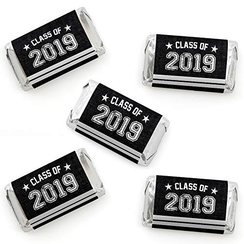 All Star Grad - Mini Candy Bar Wrapper Stickers - 2019 Graduation Party Small Favors - 40 Count (Dots Candy Bar Wrappers)