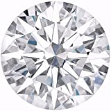 ROUND Cut Loose Real Moissanite, Use for Pendant/Ring Genuine Near White Color, 1ct to 2.5ct, Near white, moissanite, Why pay so high when you get same quality for less