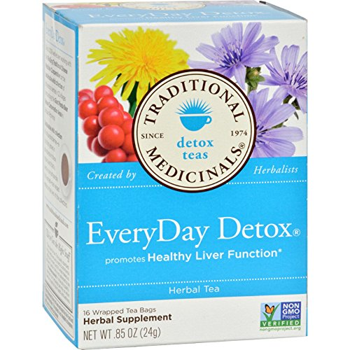 Traditional Medicinals Everyday Detox Herbal Tea - 16 Tea Bags - Promotes Healthy Liver Function - Non ()