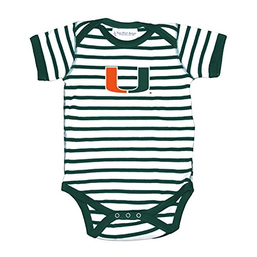 Miami Hurricanes NCAA College Newborn Infant Baby Creeper (6 Months) Green, White
