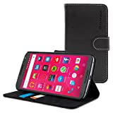 Nexus 6 Case, SnuggTM - Black Leather Wallet Case and Stand with Card Slots - Protective Google Nexus 6 Flip Cover - Includes Lifetime Guarantee