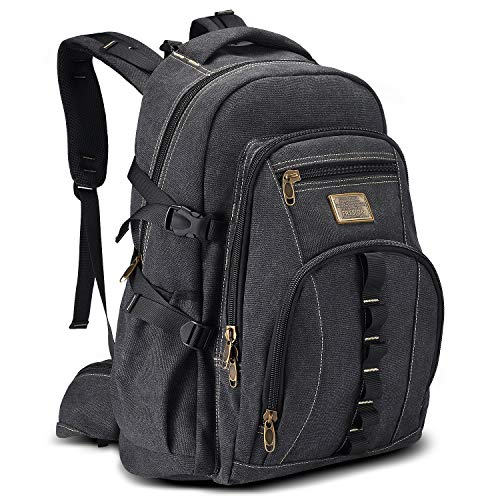 Pc 32l - 32L Classic Canvas Backpack Large Travel Backpacks Hiking Daypacks Laptop Rucksack for Men fits up to 17.3 inch Laptop/Notebook by Fresion[Guarantee 3 Years Warranty]