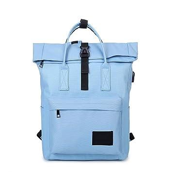 Amazon.com: Women External USB Charge Backpack Canvas Male Mochila Escolar Girls Laptop Backpack School Bags Teens blue