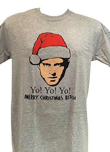 Mens Breaking Bad JESSE 'YO YO YO MERRY CHRISTMAS BITCH!': Amazon ...