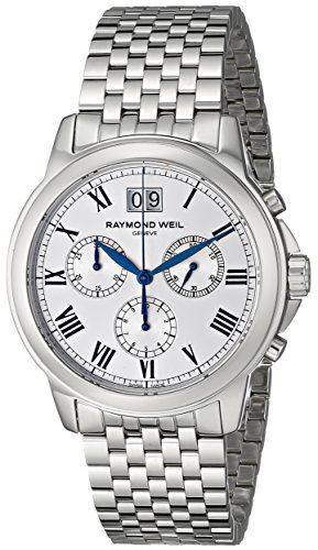 Raymond Weil Men s 4476-ST-00650 Tradition Silver-Tone Stainless Steel Watch