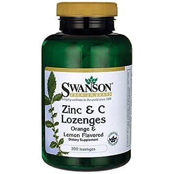 Amazon Com Swanson Zinc Vitamin C Lozenges 25 100 Milligrams 200