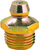 """Lumax Gold/Silver LX-3101 1/8"""" P.T.F. Special Short Straight 0.63"""" Long Grease Fitting, (Pack of 100). Heavier Wall Thickness for Extra Strength Rolled Taper Threads, 100 Pack"""