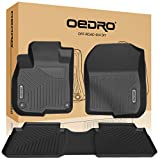 oEdRo Floor Mats Fit for 2017-2019 Honda CRV, Unique Black TPE All-Weather Guard Includes 1st and 2nd Row: Front, Rear, Full Set Liners