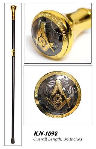Sledge Handle Pro (Classy Freemason Walking Stick Cane With Engraved Masonic Symbols On)