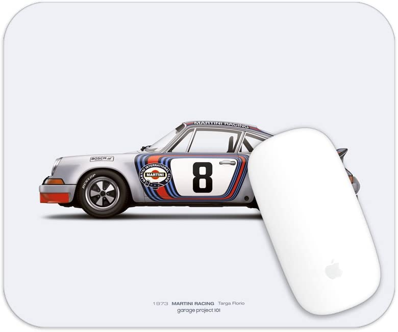 GarageProject101 1973 Martini Racing Illustration Mouse Pad Targa Florio