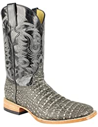 Men's Quincy Caiman Belly Print Boots Square Toe Handcrafted