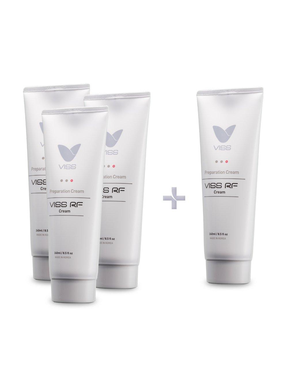 VISS RF High frequency Massage Cream & Moisturizer 3+1 package by VISS