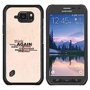 Caucho caso de Shell duro de la cubierta de accesorios de protección BY RAYDREAMMM - Samsung Galaxy S6Active Active G890A - Amor Piense Sueño Tal vez la cita de la Vida