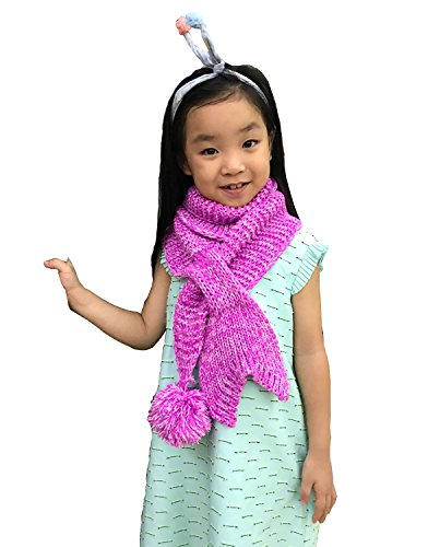 Price comparison product image LAGHCAT Mermaid tail Scarf Best Gift for Baby Toddler Knit Scarves,Pink