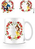 Set: La Belle Et La Bête, Roses Tasse À Café Mug (9x8 cm) + 1x Sticker Surprise 1art1®
