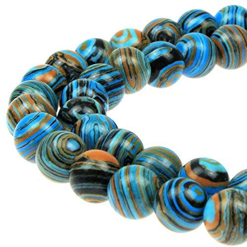 JARTC Synthesis Colour Malachite Beads Beautiful Fashion Round Stone Beads for DIY Jewelry Making 15