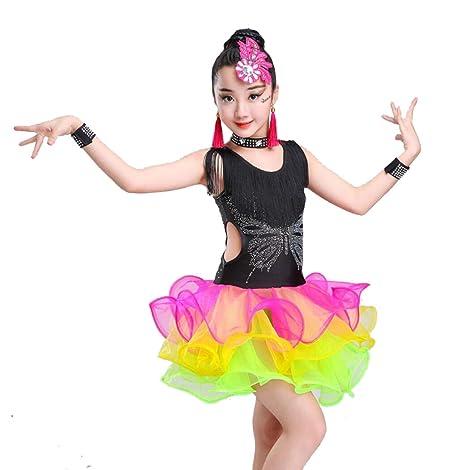 SMACO FaldasTrajes de Baile Latino para niños Vestido de Baile con ...
