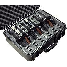 Case Club Waterproof 6 Pistol Case with Silica Gel