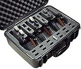Case Club Waterproof 6 Pistol Case with Silica Gel to Help Prevent Gun Rust