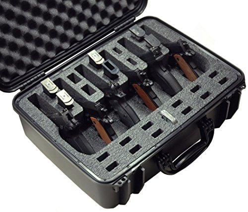 Case Club Waterproof 6 Pistol Case with Silica Gel by Case Club