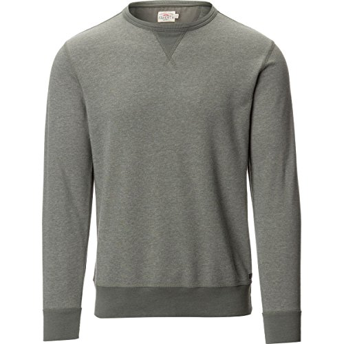 Faherty French Terry Crew Neck Sweatshirt - Men's Charcoal, S