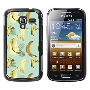Be Good Phone Accessory // Dura Cáscara cubierta Protectora Caso Carcasa Funda de Protección para Samsung Galaxy Ace 2 I8160 Ace II X S7560M // Banana Teal Yellow Fruit Pattern Tropi
