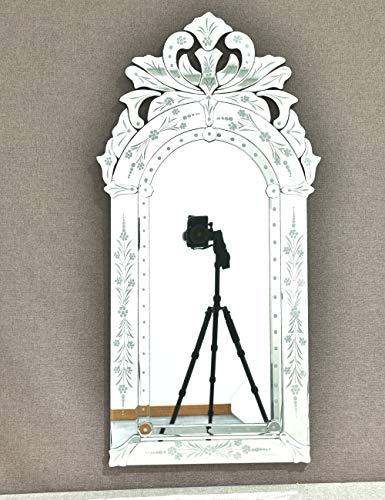 KOHROS Wall Mounted Squared Mirror, Venetian Mirror Decor for The Living Room, Bathroom, Bedroom (W 20