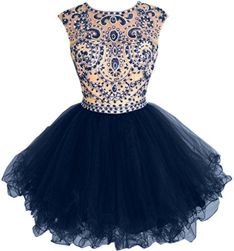 Missdressy - Robe - Dos ouvert - Femme -  Bleu - 40