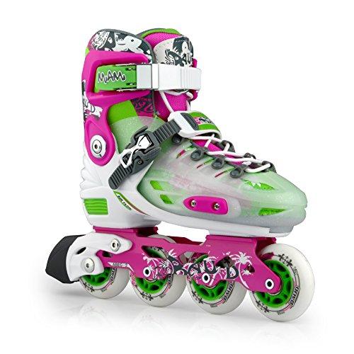KUKOME-SHOP Adjustable Inline Skates Women's Roller Skates Size 6 - 8 (Purple) - Womens Aggressive Skates