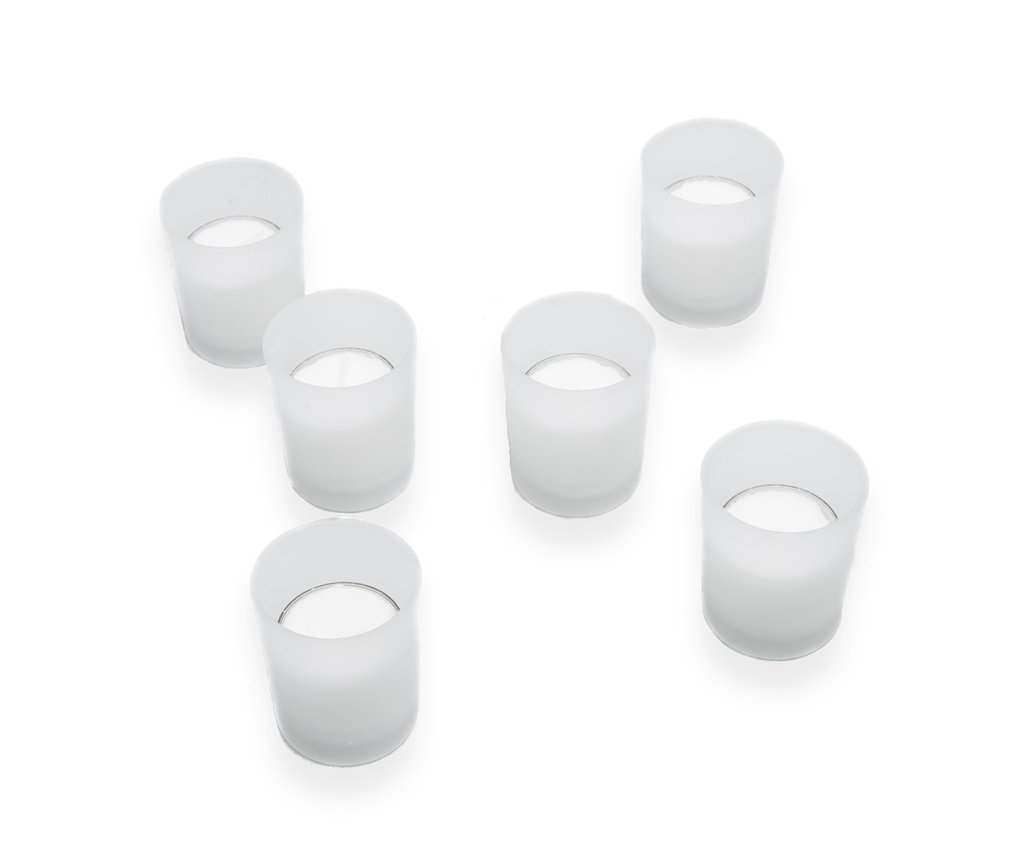 Higlow Candles Royalglow Best Glass Votive Candle Holders (Frosted Votive Holder), Set of 12