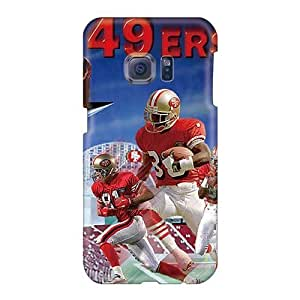 IanJoeyPatricia Samsung Galaxy S6 Shock-Absorbing Cell-phone Hard Cover Customized Realistic San Francisco 49ers Pattern [Enp15158IvwQ]
