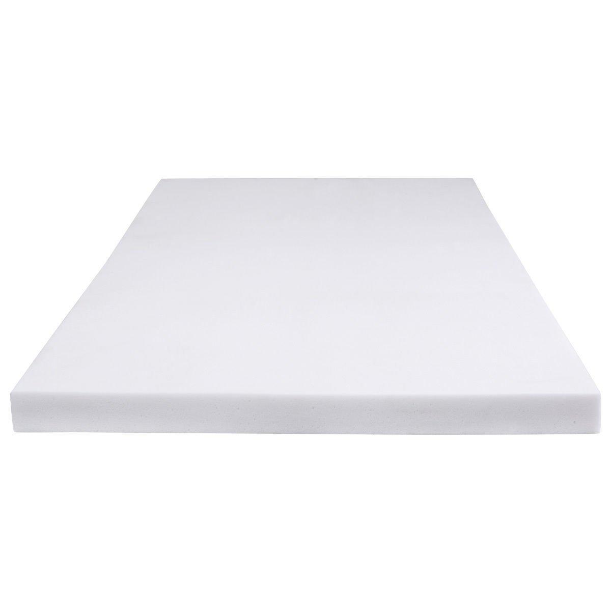 Giantex White 45D Memory Sponge Memory Foam Mattress Pad Bed Topper (Full size(75.0''X54.0''), 4'' thickness)