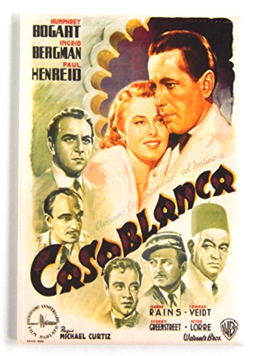 Casablanca Movie Poster Fridge Magnet (2.5 x 3.5 inches) style B