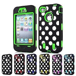 TL Cubierta Posterior - Dise?o Especial - para iPhone 4/4S/iPhone 4 (Azul Marino ,(Verde)