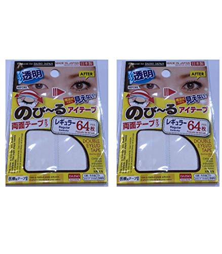 【Set of 2】DAISO Double eyelid Tape 64pcs. Regular type (Clear) No.360