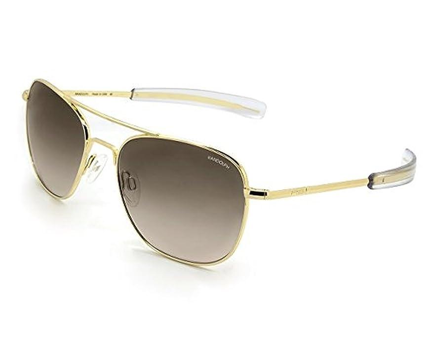 randolph aviator sunglasses 23k gold bayonet tan gradient nylon 55mm