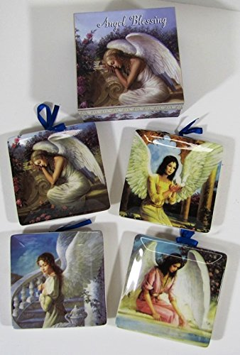 Angel Blessing Mini Plates With Decorative Box Set of 4 Plates & Amazon.com: Angel Blessing Mini Plates With Decorative Box Set of 4 ...