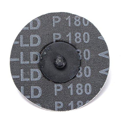 Letbo New 25pcs 3 Inch 75mm Sanding Discs 180 Grit Abrasive Roll Lock Sandpaper