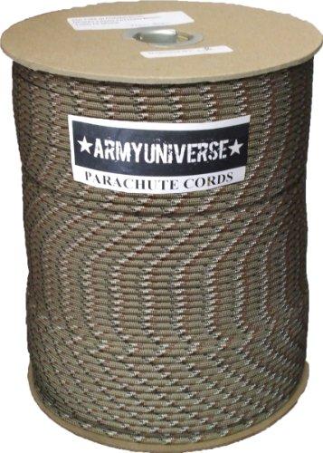 Desert Camouflage Parachute Cord 550lb Nylon USA Paracord Spool 1000'