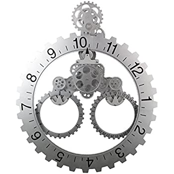 Amazon Com Kikkerland Big Wheel Revolving Wall Clock
