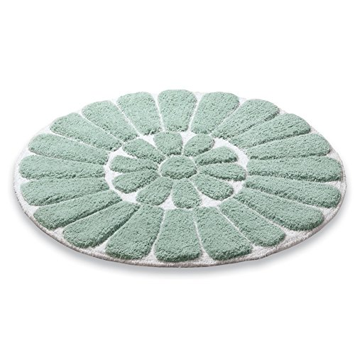 Round Plush Flower Bath Cotton