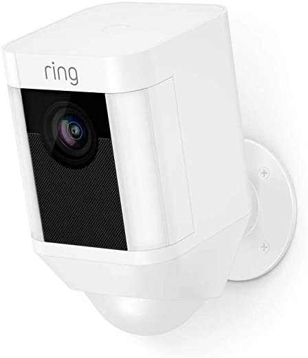 Ring Spotlight Cam Battery | HD Security Camera with LED Spotlight, Alarm, Two-Way Talk, Battery Operated | With 30-day free trial of Ring Protect Plan