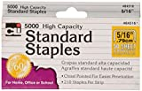 Charles Leonard High Capacity Standard Staples, 5/16 Inch Leg Length, Silver, 5000/Box (84516)